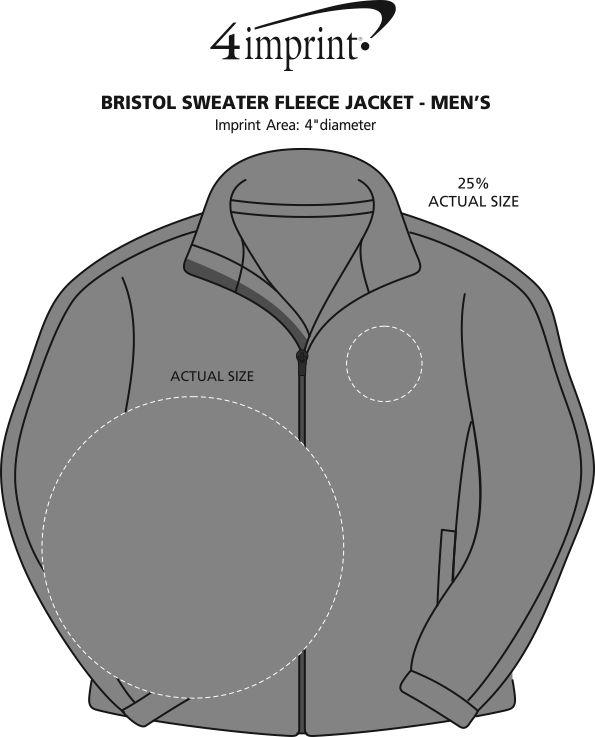 Imprint Area of Bristol Sweater Fleece Jacket - Men's