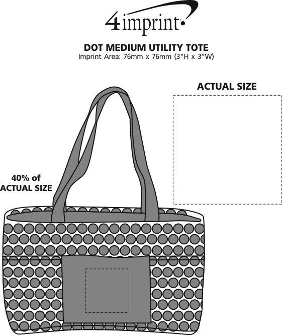 Imprint Area of Dot Medium Utility Tote