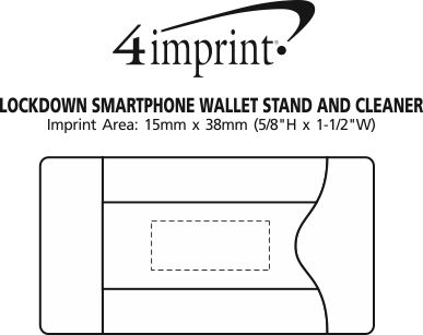 Imprint Area of Lockdown Smartphone Wallet Stand and Cleaner