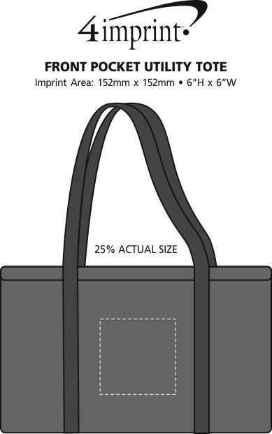 Imprint Area of Front Pocket Utility Tote