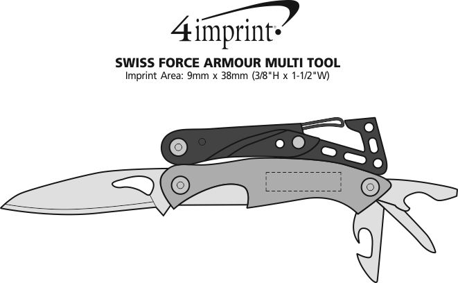 Imprint Area of Swiss Force Armour Multi-Tool