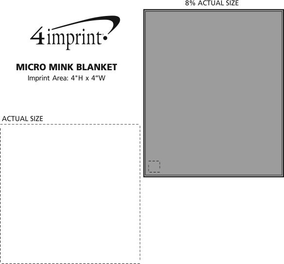 Imprint Area of Micro Mink Blanket