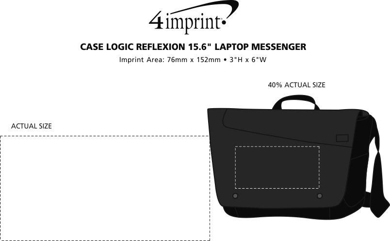 "Imprint Area of Case Logic Reflexion 15.6"" Laptop Messenger"
