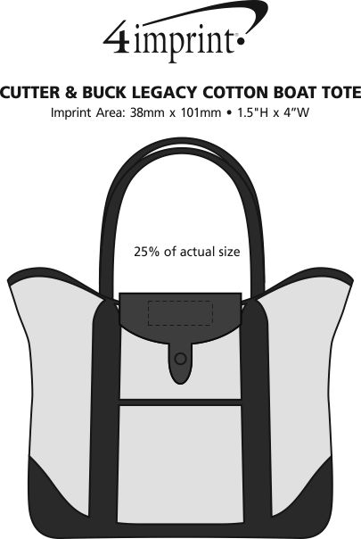 Imprint Area of Cutter & Buck Legacy Cotton Boat Tote