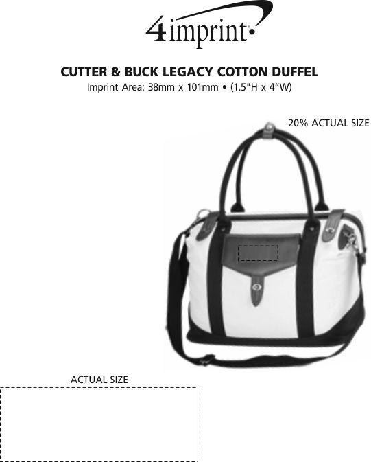 Imprint Area of Cutter & Buck Legacy Cotton Duffel
