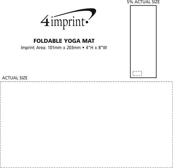 Imprint Area of Foldable Yoga Mat