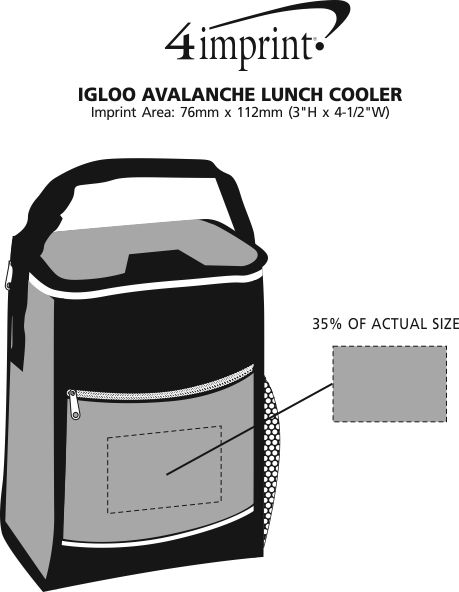 Imprint Area of Igloo Avalanche Lunch Cooler