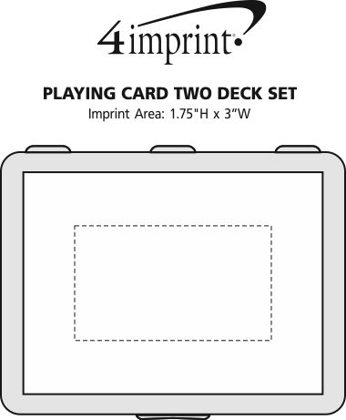 Imprint Area of Playing Card Two Deck Set