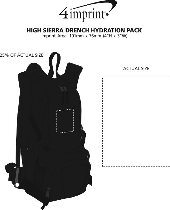 Imprint Area of High Sierra Drench Hydration Pack