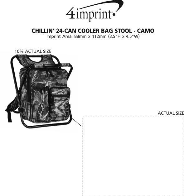 Imprint Area of Chillin' 24-Can Cooler Bag Stool - Camo