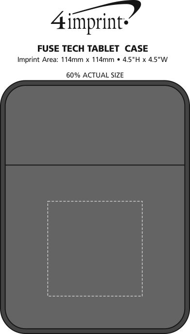 Imprint Area of Fuse Tech Tablet Case