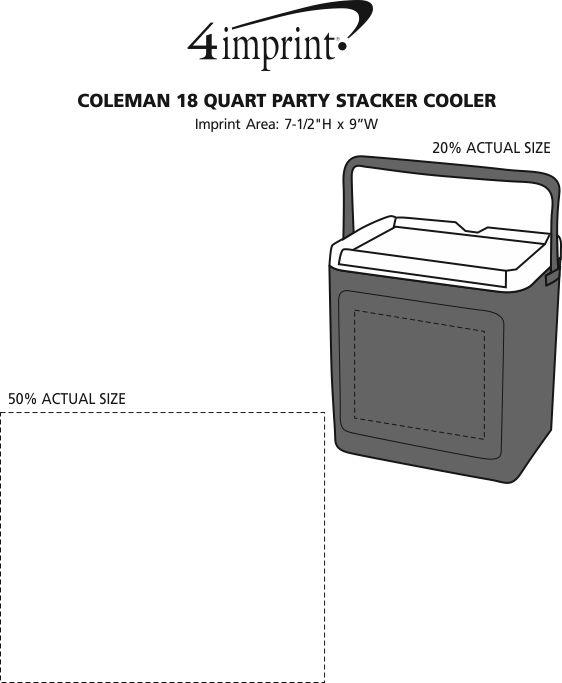 Imprint Area of Coleman 18-Quart Party Stacker Cooler