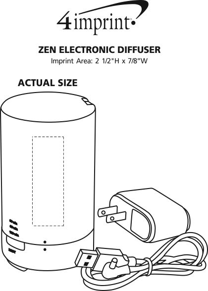 Imprint Area of Zen Electronic Diffuser