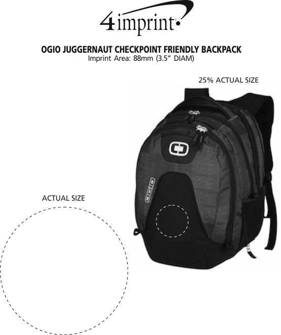 Imprint Area of OGIO Juggernaut Checkpoint Friendly Backpack