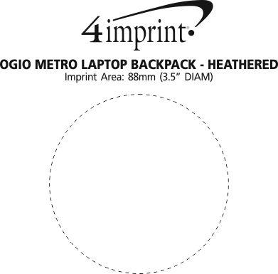 Imprint Area of OGIO Metro Laptop Backpack - Heathered
