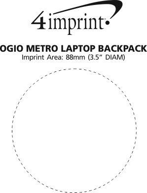 Imprint Area of OGIO Metro Laptop Backpack