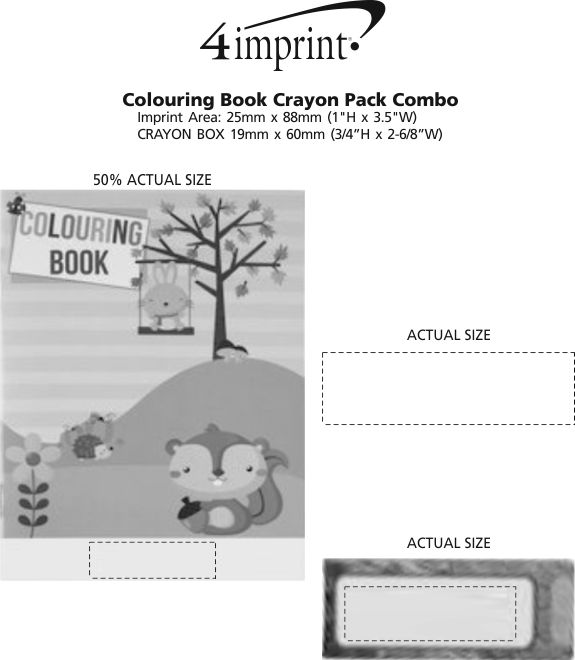 Imprint Area of Colouring Book Crayon Pack Combo