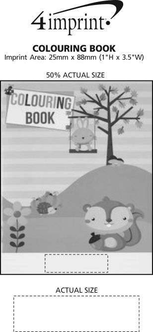 Imprint Area of Colouring Book