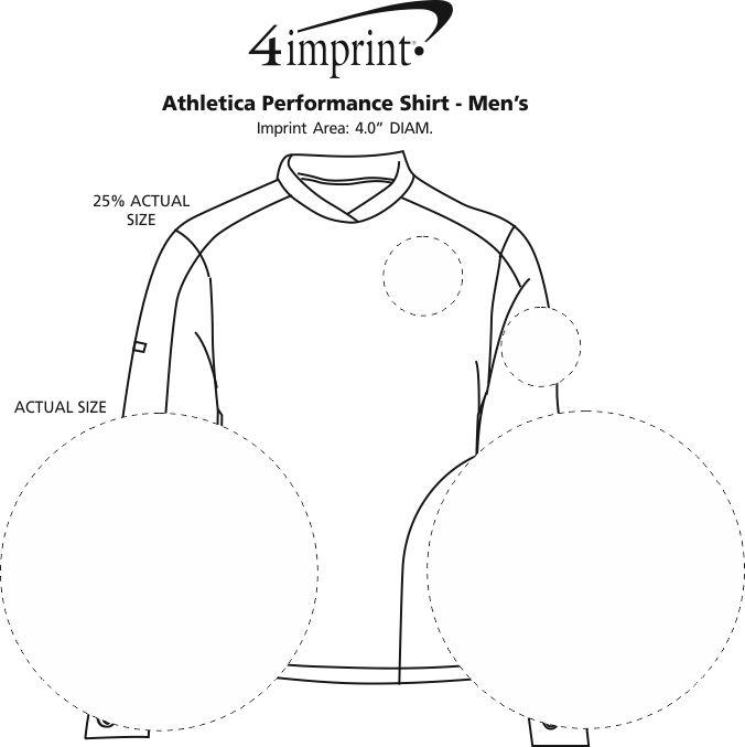 Imprint Area of Athletica Performance Shirt - Men's