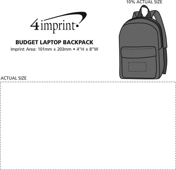 Imprint Area of Budget Laptop Backpack