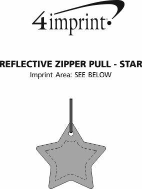 Imprint Area of Reflective Zipper Pull - Star