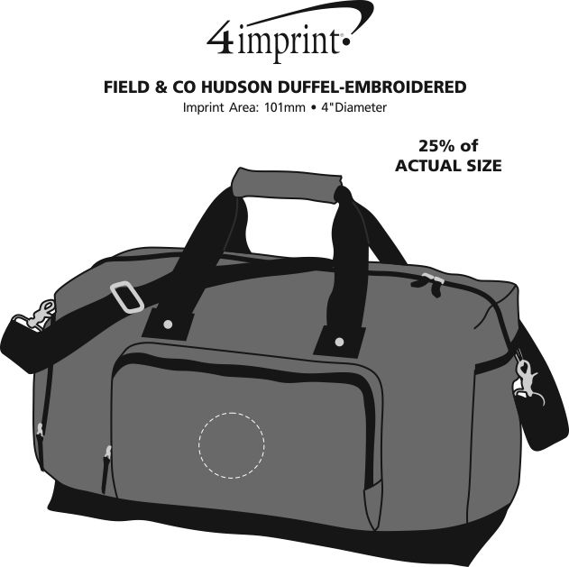 Imprint Area of Field & Co. Hudson Duffel - Embroidered