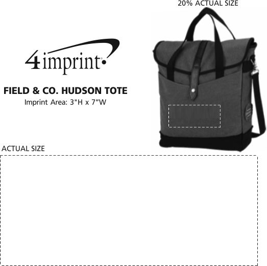 Imprint Area of Field & Co. Hudson Tote