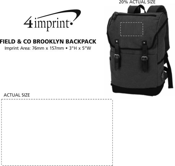 Imprint Area of Field & Co. Brooklyn Laptop Backpack