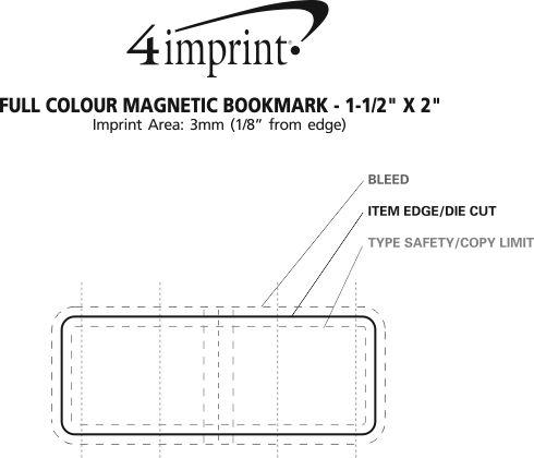 "Imprint Area of Full Colour Magnetic Bookmark - 1-1/2"" x 2"""