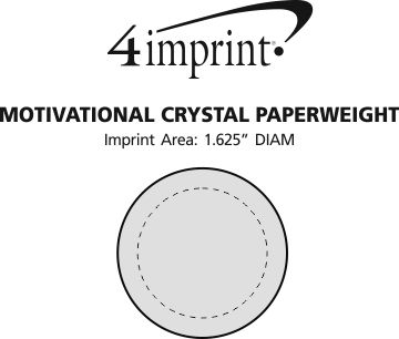 Imprint Area of Motivational Crystal Paperweight