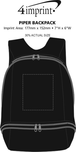 Imprint Area of Piper Backpack