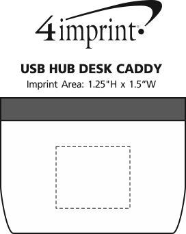 Imprint Area of USB Hub Desk Caddy