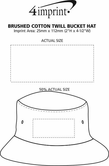 Imprint Area of Brushed Cotton Twill Bucket Hat