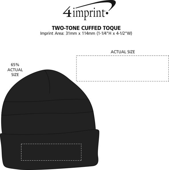 Imprint Area of Two-Tone Cuffed Toque