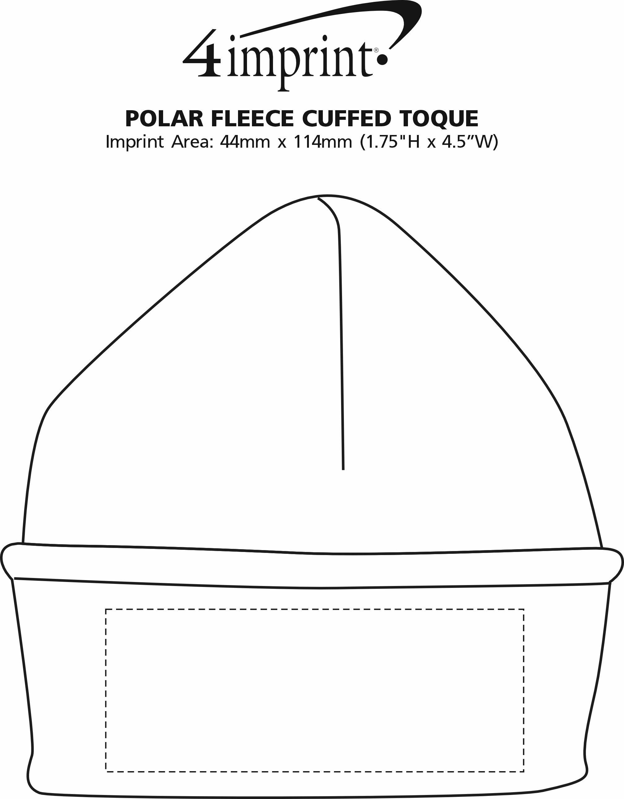 Imprint Area of Polar Fleece Cuffed Toque