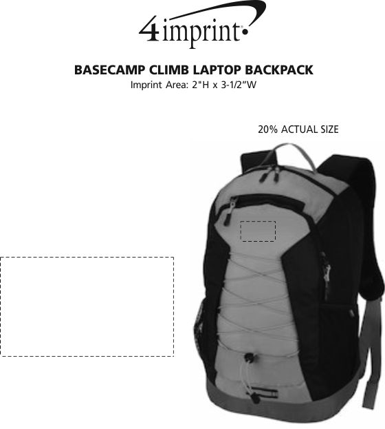 Imprint Area of Basecamp Climb Laptop Backpack