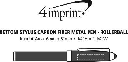 Imprint Area of Bettoni Stylus Carbon Fibre Metal Pen - Rollerball