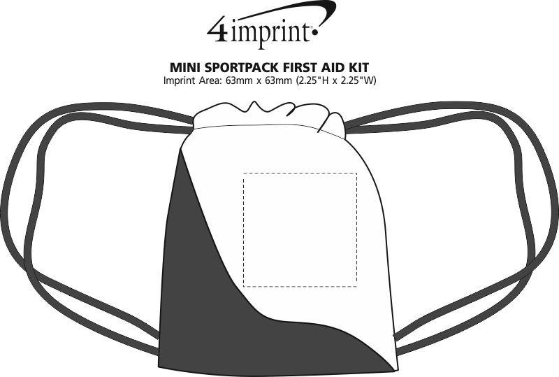 Imprint Area of Mini Sportpack First Aid Kit