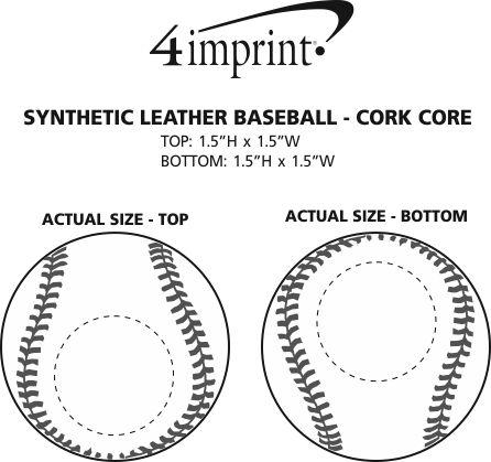 Imprint Area of Synthetic Leather Baseball - Cork Core