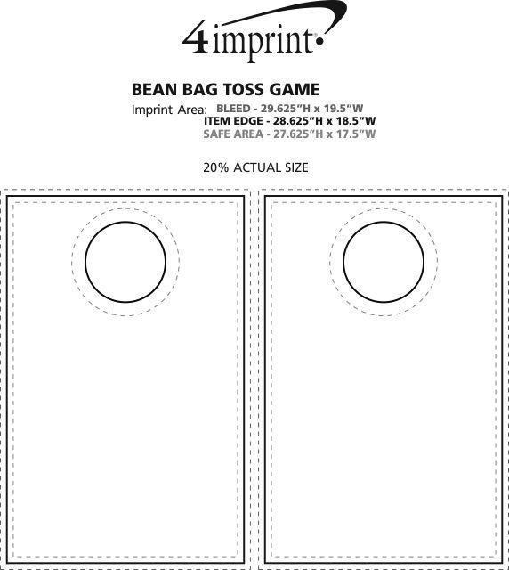 Imprint Area of Bean Bag Toss Game