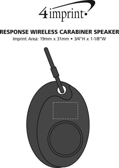Imprint Area of Response Wireless Carabiner Speaker