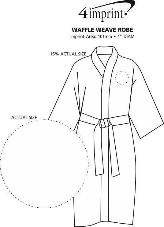 Imprint Area of Waffle Weave Robe