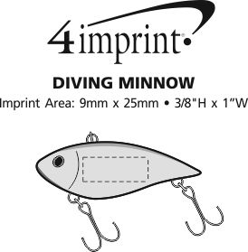 Imprint Area of Diving Minnow Lure