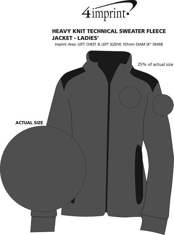 Imprint Area of Heavy Knit Technical Sweater Fleece Jacket - Ladies'