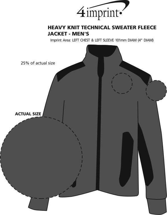 Imprint Area of Heavy Knit Technical Sweater Fleece Jacket - Men's