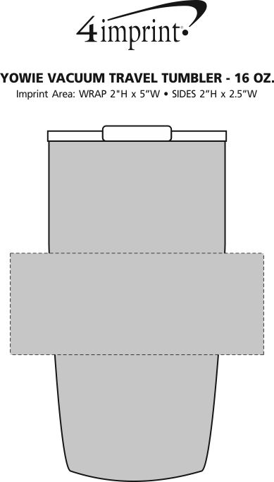 Imprint Area of Yowie Vacuum Travel Tumbler - 18 oz.