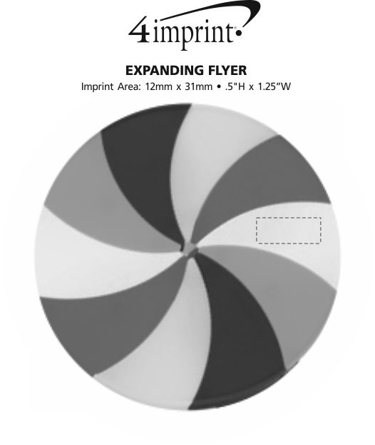 Imprint Area of Expanding Flyer