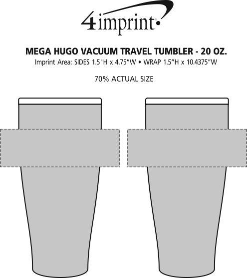 Imprint Area of Hugo Vacuum Mug - 20 oz.