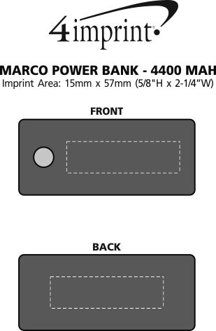 Imprint Area of Marco Power Bank