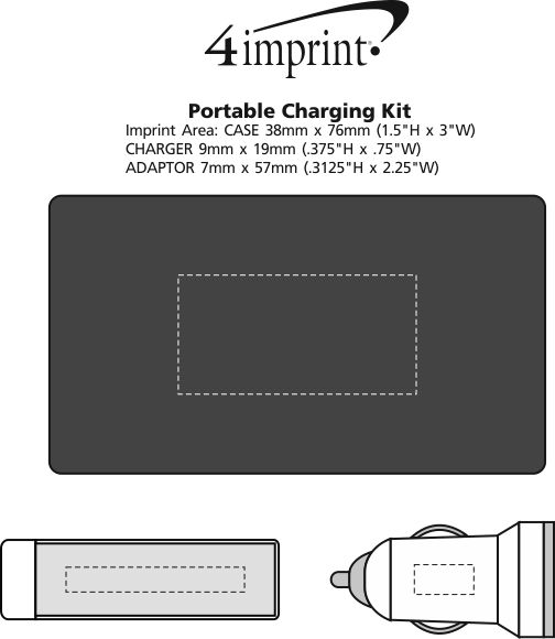Imprint Area of Portable Charging Kit